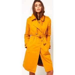 Diesel Mustard Belted Trench Coat